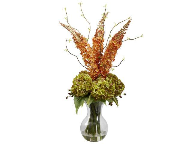 Nearly Natural Fancy Foxtail & Hydrangea Arrangement
