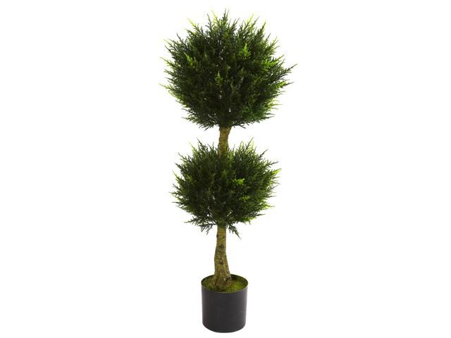 Nearly Natural 4 Double Ball Cypress Topiary UV Resistant (Indoor/Outdoor)