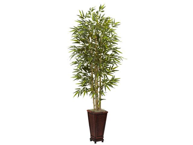 Nearly Natural 6 Bamboo Tree w/Decorative Planter
