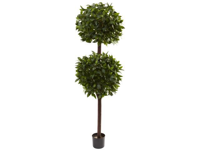Nearly Natural 6 Sweet Bay Double Ball Topiary