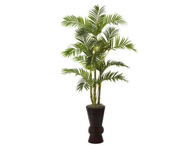 Nearly Natural 62 Areca Tree w/Decorative Planter
