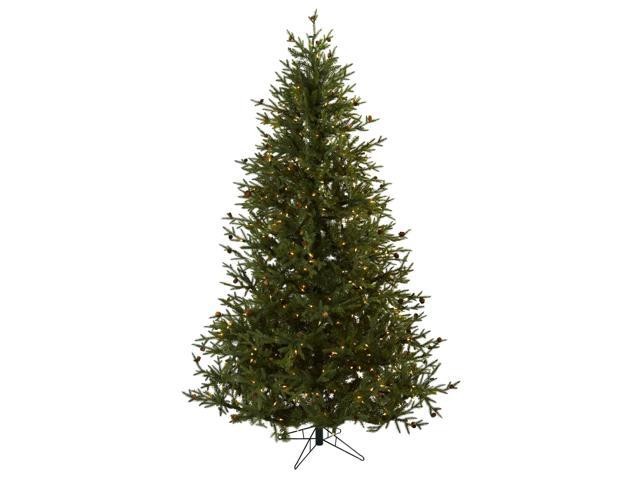 Nearly Natural 7.5 Classic Pine & Pine Cone Christmas Tree