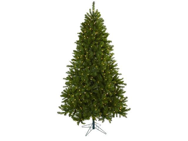 Nearly Natural 7.5 Windermere Christmas Tree w/Clear Lights