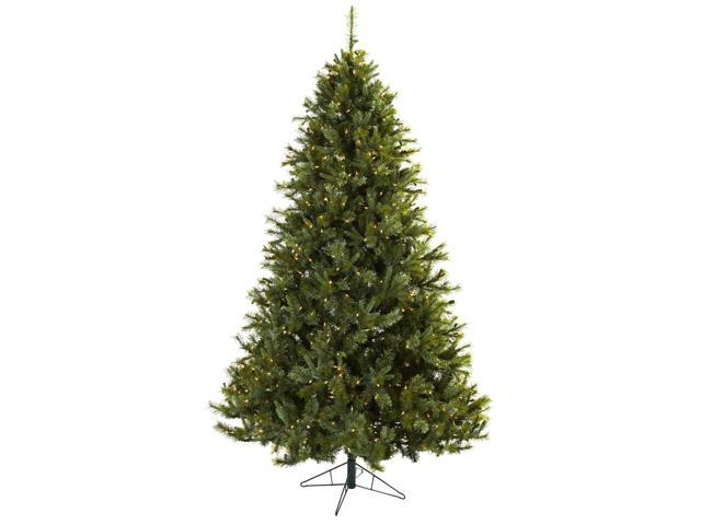 Nearly Natural 7.5 Majestic Multi-Pine Christmas Tree w/Clear Lights