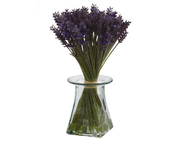 Nearly Natural Lavender Bundle w/Vase
