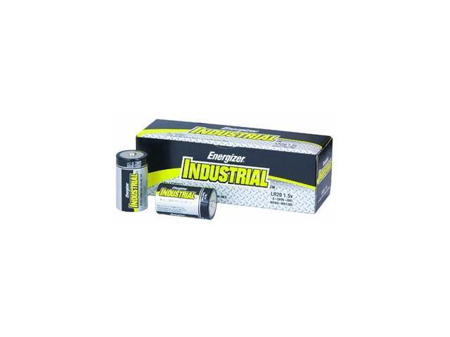 Energizer D Cell 2500mAh Industrial Strength Alkaline Batteries 12 Pack
