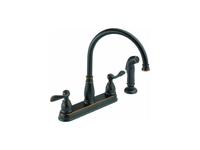 Two Handle Kitchen Faucet DELTA FAUCET CO Delta Kitchen Double Handle 21996LF-OB