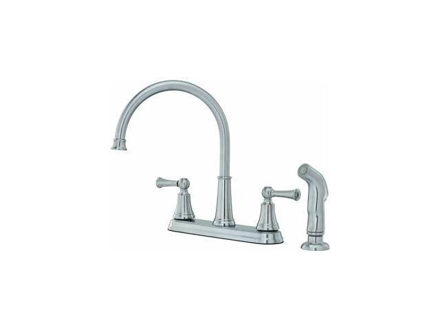 Pf Waterworks Lp 2H Ss Kit Faucet W/Spry F0364Svs