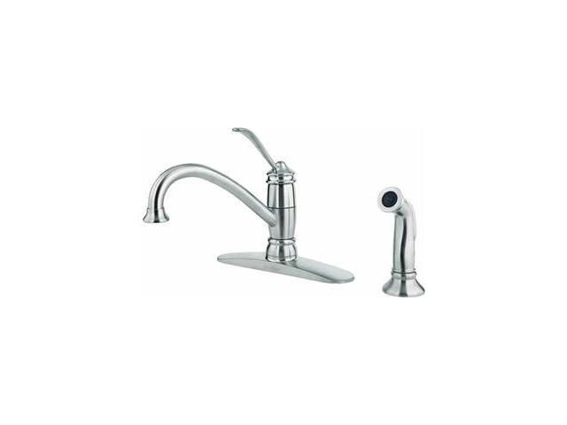 Pf Waterworks Lp 1H Ss Kit Faucet W/Spry F0344Als