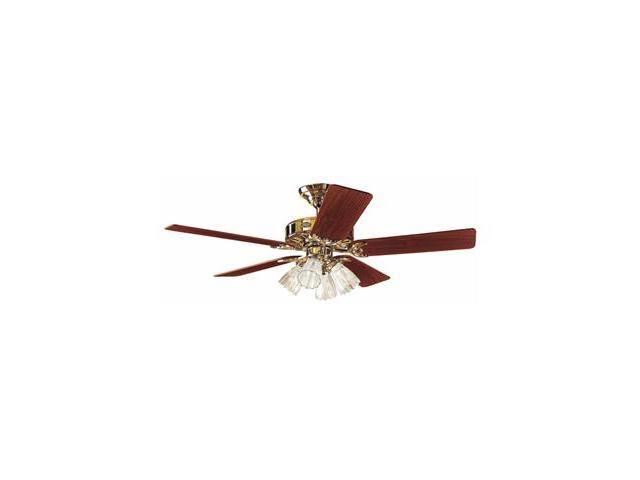 25579 The Studio Series 52-in Bright Brass Finish Ceiling Fan with Light