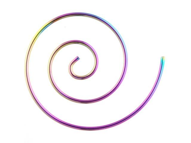 One Stainless Steel Coil: 14g Large Rainbow (SOLD INDIVIDUALLY. ORDER TWO FOR A PAIR.)