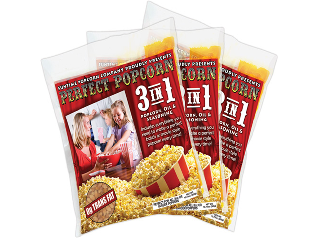 FunTime 48 - 4 Ounce Popcorn Portion Packs Kit Movie - FT448