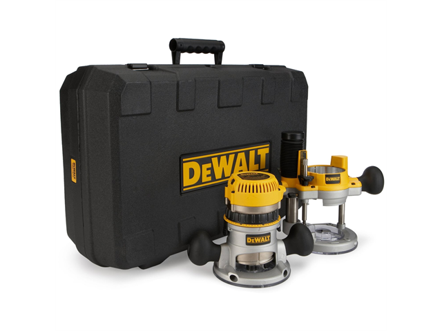 DW618PK 2-1/4 HP EVS Fixed Base & Plunge Router Combo Kit