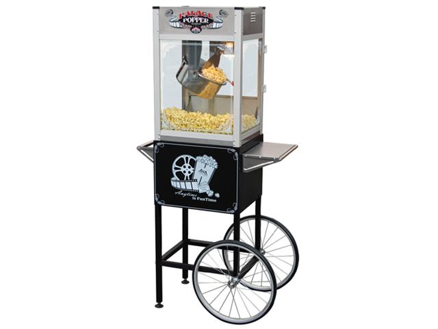 large popcorn machine on wheels