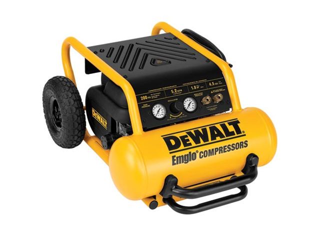 D55146 1.6 HP 4.5 Gallon Oil-Free Wheeled Portable Air Compressor