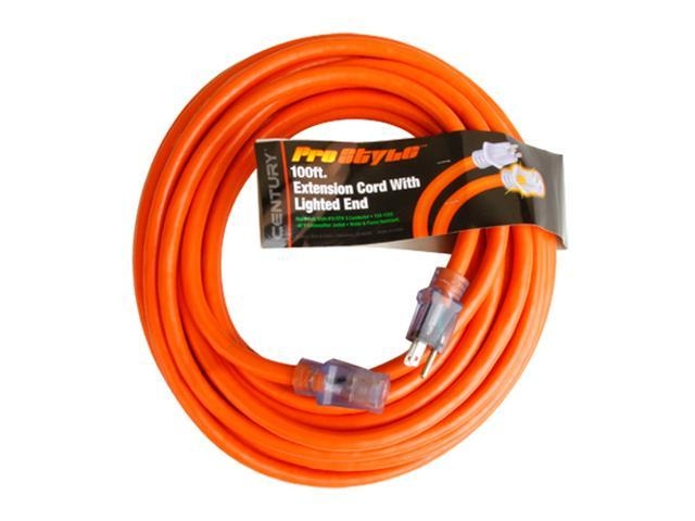 Century Contractor Grade 100' Power Generator Extension Cord 12/3 Plug