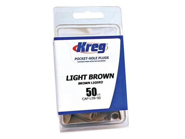 Kreg CAP-LTB-50 Light Brown Plastic Plugs for Pockets - 50 Count