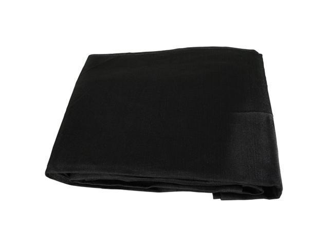 Black Mesh 10x10 Heavy Duty UV Screen Shade Canopy Patio Yard Tarp Sun Cover
