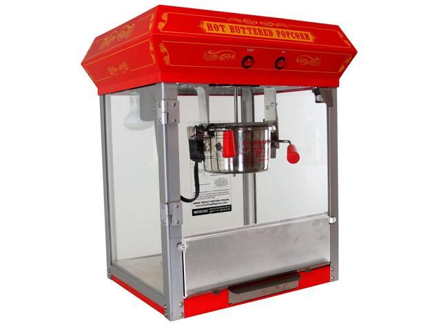 FunTime FT421CR 4Oz Bar Table Top Popcorn Popper Maker Machine -  Red