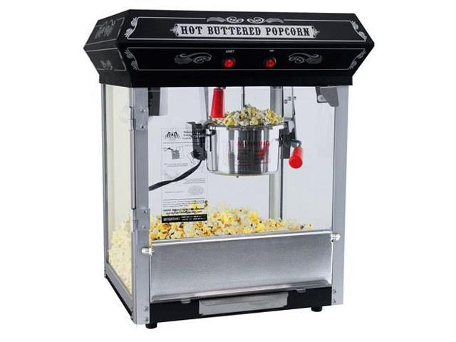 FunTime FT421CB Carnival Style 4oz Hot Oil Popcorn Machine, Black