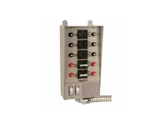 Reliance Controls 51410C 10-Circuit Indoor Transfer Switch w/ Meters, 12500-Watt