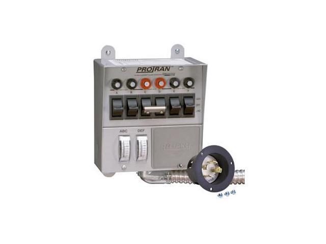 Reliance 30216A Pro/Tran 7500 Watt Generator Indoor Transfer Switch w/ Meters