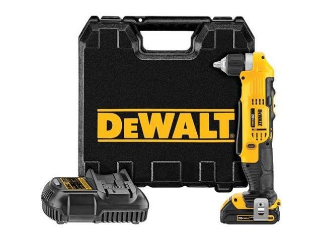 DCD740C1 20V MAX Cordless Lithium-Ion Compact Right Angle Drill Kit
