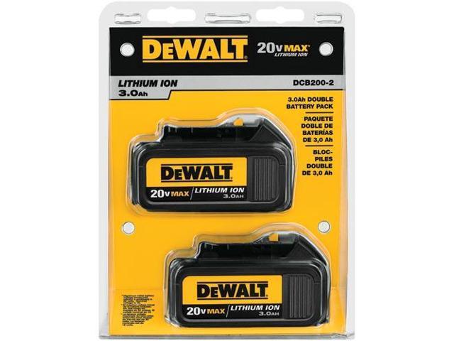 DeWALT DCB200-2 20V MAX Lithium Ion Cordless Tool Battery 2-Pack - 20 Volt