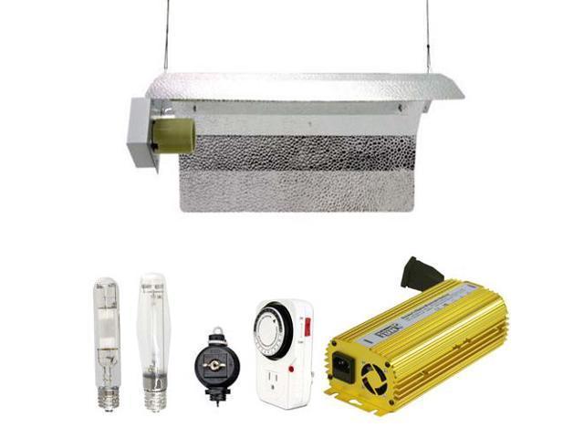 Virtual Sun 600W HPS MH Grow Light Winged Reflector Hood Digital Kit - 600 Watt