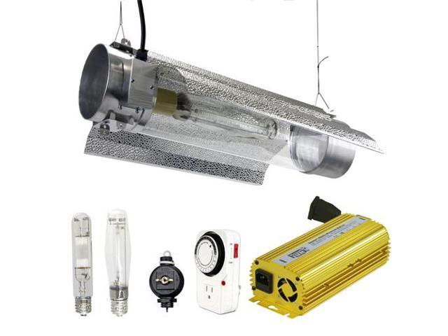 Virtual Sun 400W HPS MH Grow Light Tube Reflector Hood Digital Kit- 400 Watt