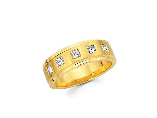 14k Yellow Gold Womens Ladies Diamond Wedding Ring Band .40ct (G-H Color, SI1 Clarity)