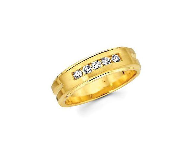 14k Yellow Gold Ladies Womens Diamond Wedding Ring Band .21ct (G-H Color, SI2 Clarity)