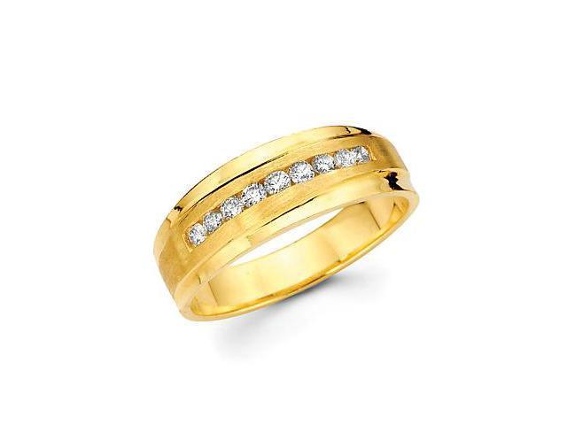 14k Yellow Gold Mens Diamond Wedding Ring Band .40ct (G-H Color, SI2 Clarity)