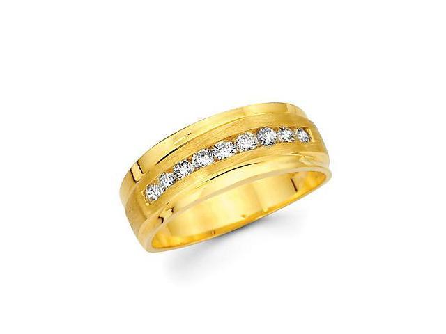 14k Yellow Gold Womens Ladies Diamond Wedding Ring Band .40ct (G-H Color, SI2 Clarity)