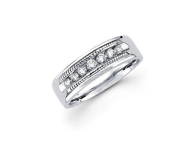 14k White Gold Ladies Womens Diamond Wedding Ring Band .28 ct (G-H Color, SI2 Clarity)