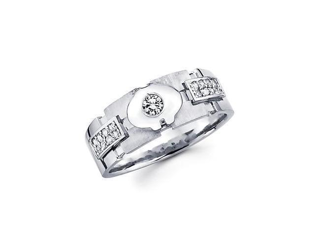 14k White Gold Womens Ladies Diamond Solitaire Wedding Ring Band1/4 ct (G-H Color, SI2 Clarity)
