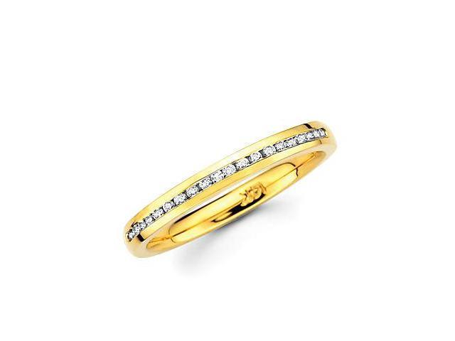 14k Gold Channel Set 20 Round Diamond Wedding Ring Band .19ct (G-H Color, SI2 Clarity)