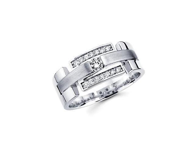 14k White Gold Womens Ladies Diamond Solitaire Wedding Ring Band .27 ct (G-H Color, SI2 Clarity)