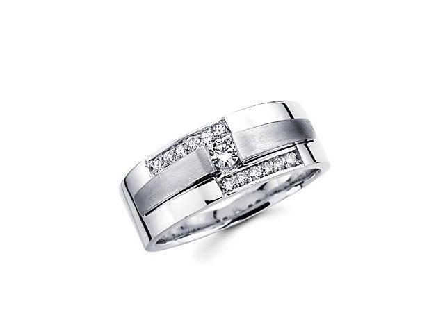 14k White Gold Ladies Womens Diamond Solitaire Wedding Ring Band1/4 ct (G-H Color, SI2 Clarity)