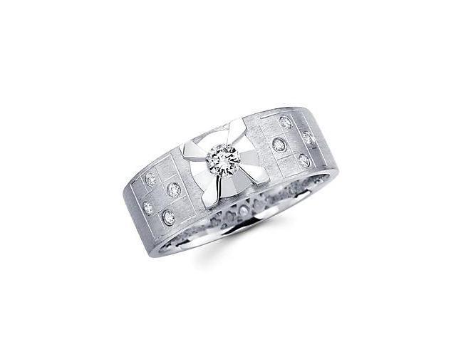 14k White Gold Womens Ladies Diamond Solitaire Wedding Ring Band .23 ct (G-H Color, SI2 Clarity)