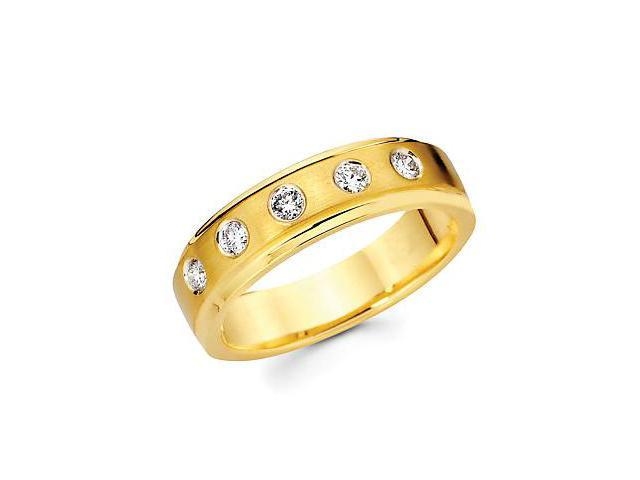 14k Yellow Gold Mens Diamond Wedding Ring Band .32ct (G-H Color, SI2 Clarity)