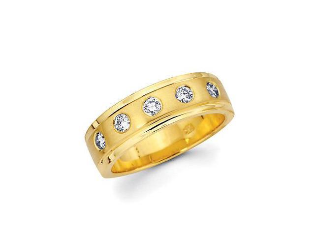 14k Yellow Gold Ladies Womens Diamond Wedding Ring Band .32ct (G-H Color, SI2 Clarity)