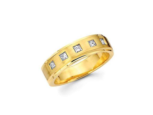 14k Yellow Gold Mens Diamond Wedding Ring Band .40ct (G-H Color, SI1 Clarity)
