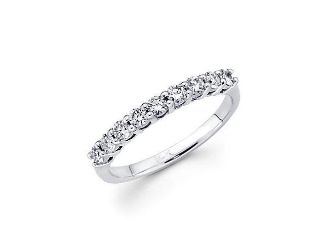 14k White Gold Channel Set .92 Ct Round Diamond Ladies Wedding Ring Band (G-H Color, SI2 Clarity)