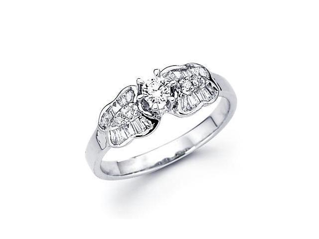 14k White Gold Diamond Engagement Ring Band .55 ct (G-H Color, SI2 Clarity)