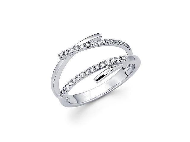 14k White Gold Diamond Anniversary Right Hand Fashion Ring Band 0.23 ct (G-H Color, SI2 Clarity)