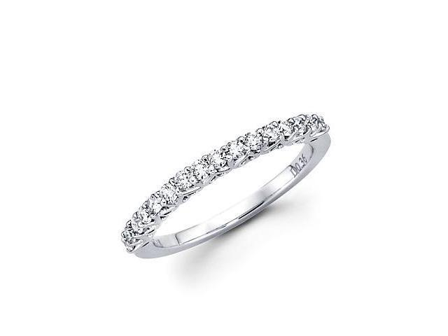 14k White Gold Diamond Anniversary Right Hand Fashion Ring Band 0.36 ct (G-H Color, SI2 Clarity)