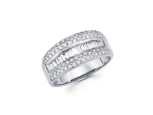 14k White Gold Diamond Channel Set Anniversary Wedding Ring3/4 ct (G-H Color, SI2 Clarity)