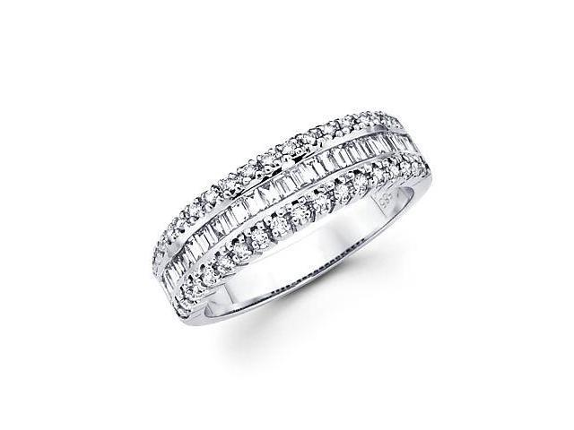 14k White Gold Diamond Channel Set Anniversary Wedding Ring .73 ct (G-H Color, SI2 Clarity)