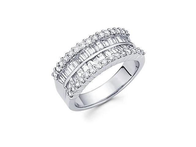 14k White Gold Diamond Channel Set Anniversary Wedding Ring 1.62 ct (G-H Color, SI2 Clarity)